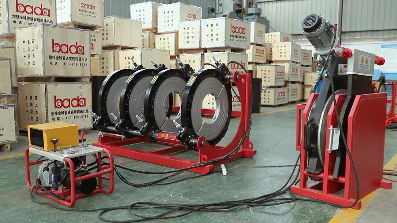 630mm zadel fusion veld lassen machine workshop SHBG630 fitting voor fabriceren HDPE buisleidingen