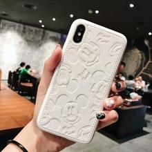 Cartoon Mickey Leder Weichen PU Fall Für iphone 7 7 Plus X 8 8 Plus 6 6s 6 Plus telefon fall