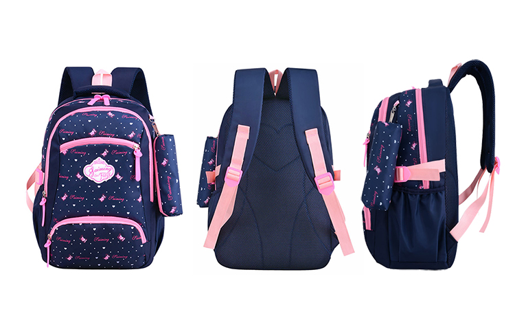 Child waterproof backpack girls bag new kids schoolbag set