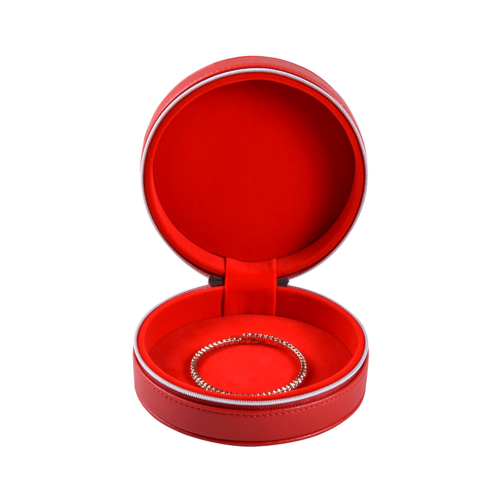 travel round small leather bracelet box jewellery