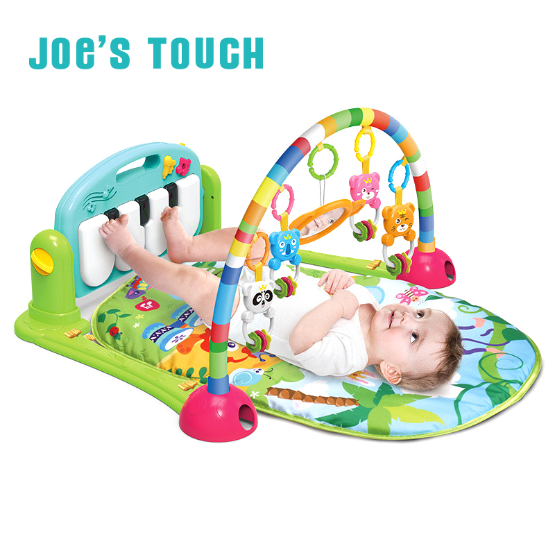 JOE'S TOUCH Best Gift Multi function Musical Piano Mirror Activity Gym Playmat Newborn Infant Toddler Baby Toy