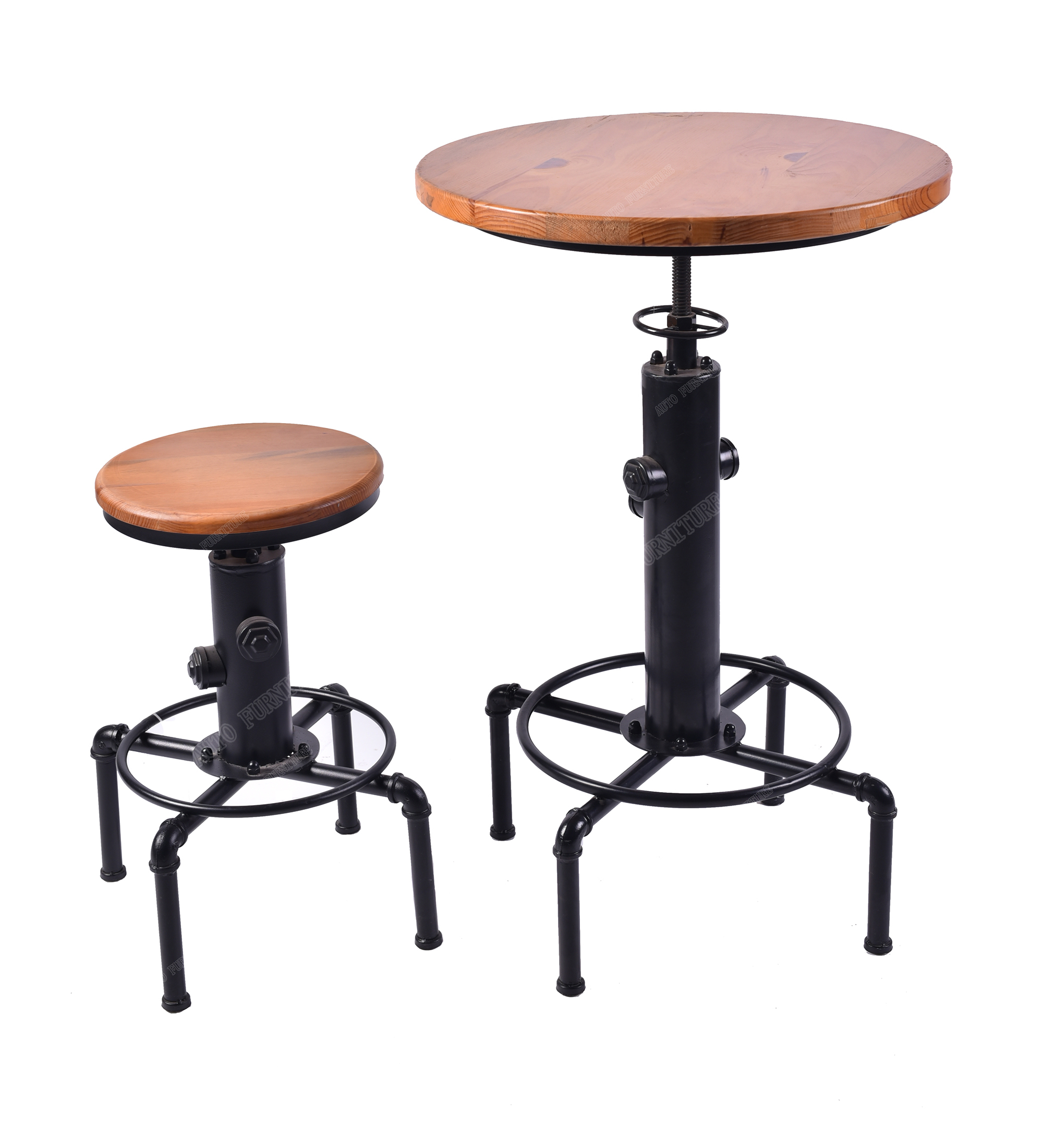 Hot Selling Vintage Effect Old Designed Cheap Bar Table and  Stool Set
