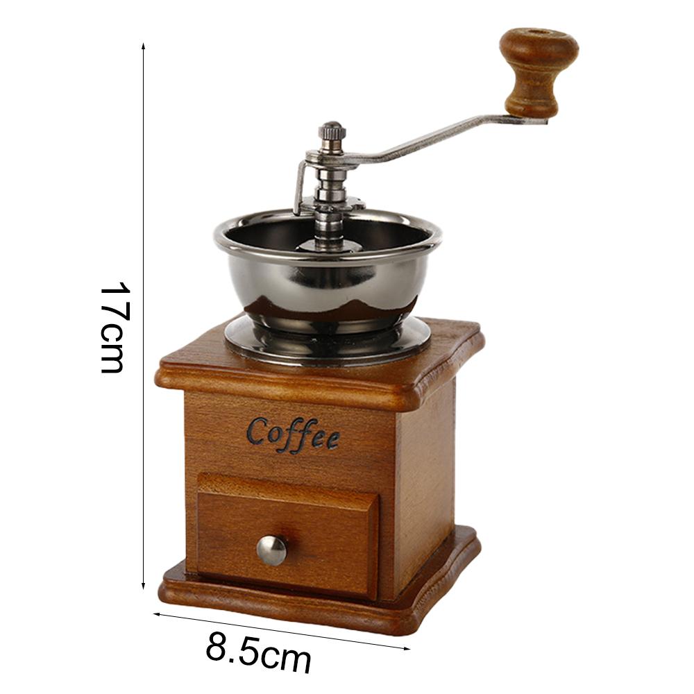 Домашняя ручная кофемолка в стиле ретро, классический деревянный дизайн, металлическая мельница, ручная кофемолка, машина высокого качеств...(Китай)