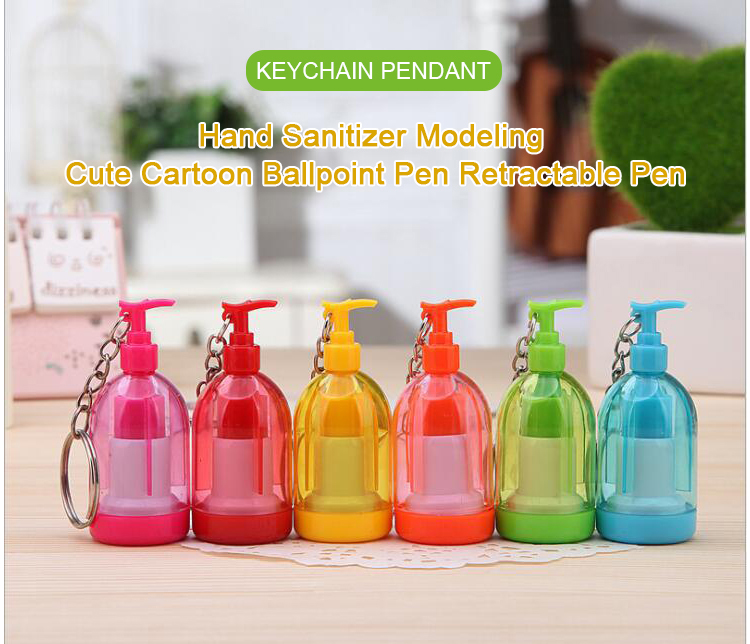 טלסקופי קריקטורה עט יד Sanitizer מחזיק Keychain מוצרי פלסטיק הכי חדש עיצוב טוב מחיר