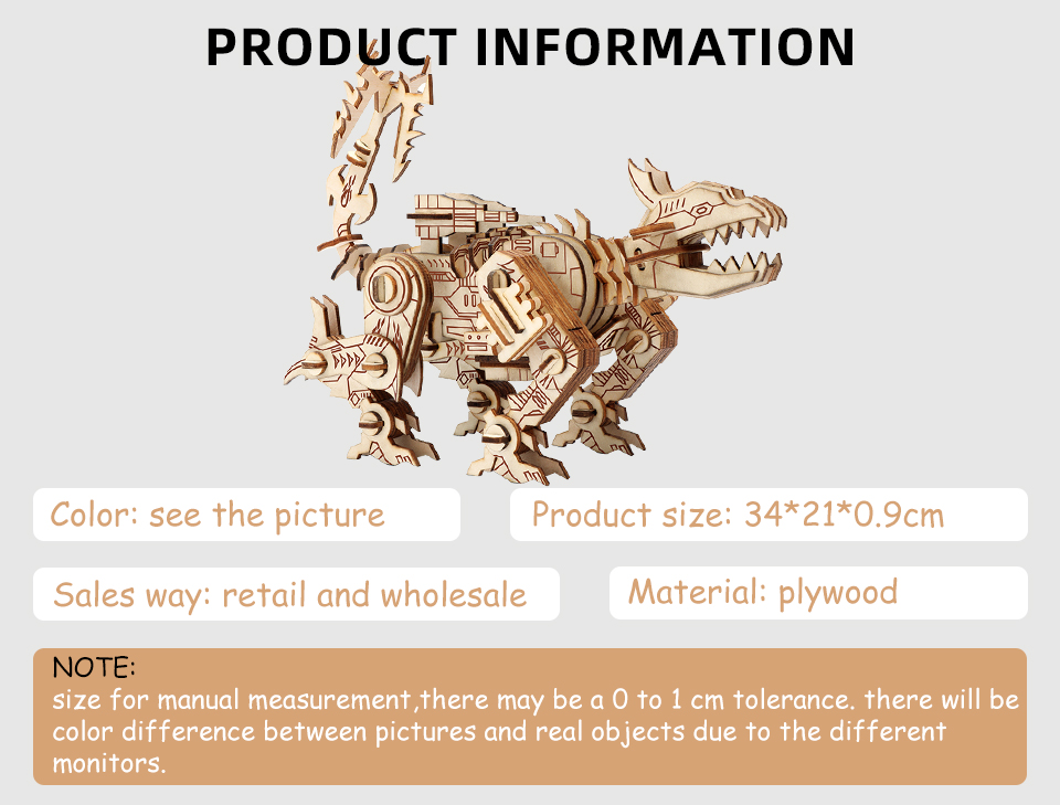 Amazon Hot Selling Parent-child Educational Toy Model Building Adult Wooden Toys 3D Wooden Puzzle Games Robot Dog Wood Puzzles