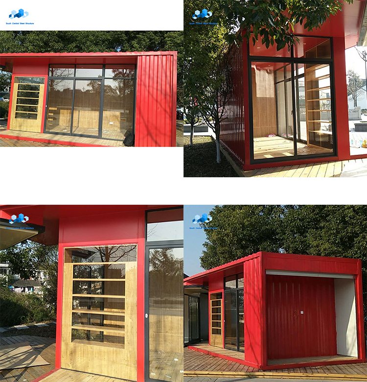 low cost flat roof modular prefabricated prefab container kit house homes