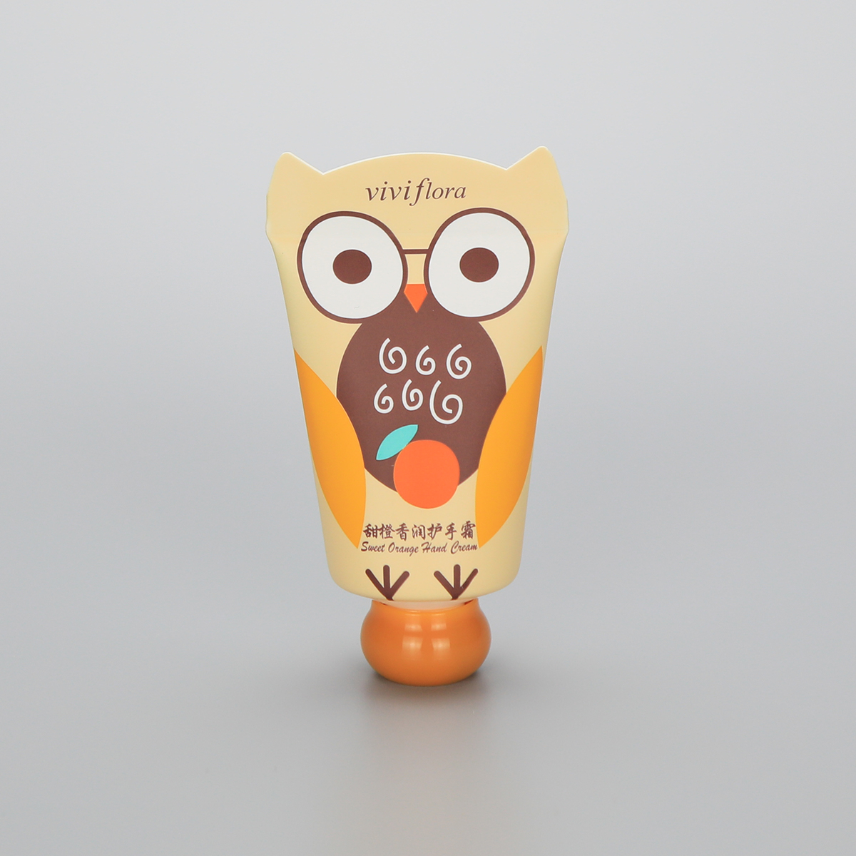35mm 40g cute hand cream plastic cosmetic empty packaging tube with animal shape tail and ball shape screw cap