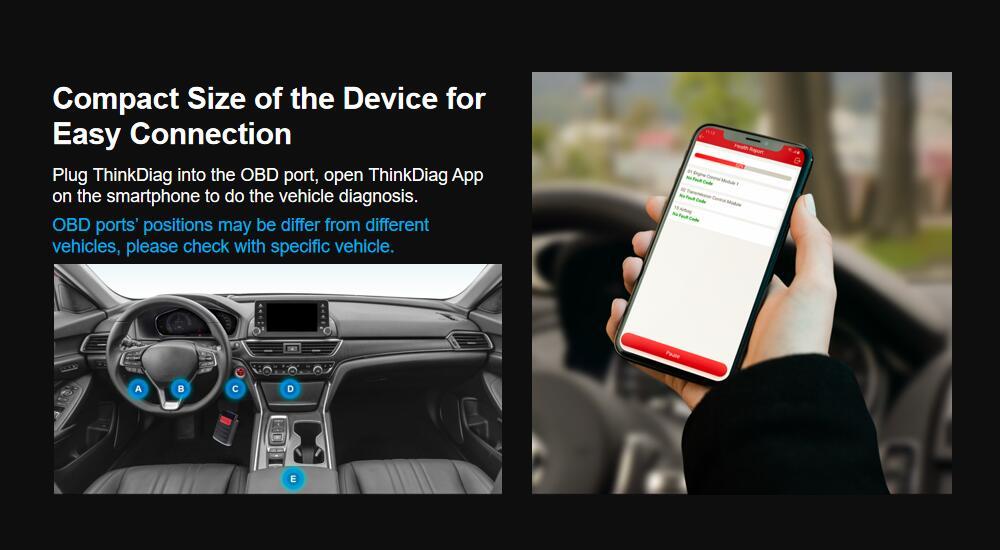 Thinkdiag 2 anos software livre todos os fabricantes e todos os serviços de reset para Android /IOS obd2 ferramenta de diagnóstico