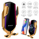 Car Phone Iphone 2 In 1 Universal Wireless Car Charger Phone Holder 10W Fast Qi Charging For IPhone Samsung Galaxy