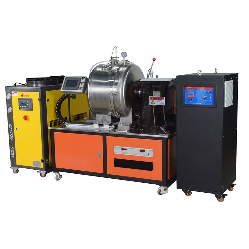 Laboratory max 2000C vacuum induction melting furnace for metal smelting