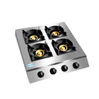 4 Burner Gas Cooktop 4 Gas Cooktop 4 Burner Square Honeycomb Table-top Gas Cooktop With Electronic Ignition