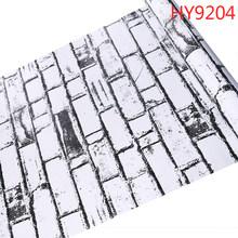 10 м бумажная наклейка кирпичная каменная настенная бумага водонепроницаемая самоклеящаяся ПВХ papel de parede для украшения дома(Китай)