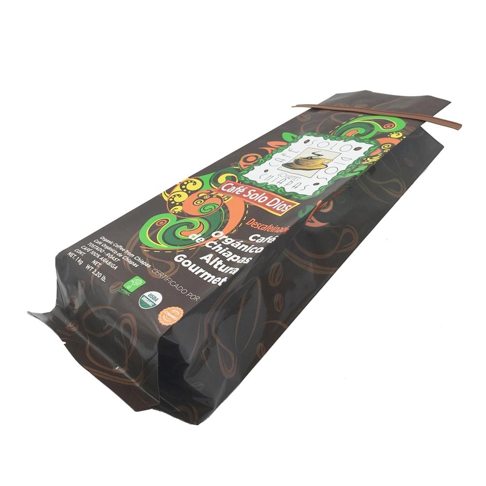 Personnalisé Imprimé Refermable Mat Noir Papier D'aluminium 250g 1kg 12oz de Café Debout Sac D'emballage De Thé Avec valve de dégazage
