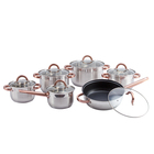 Stainless Steel Lid Kitchenware Cookware Set Europe Kitchenware Cook Wares 12piece Stainless Steel Kitchen Cookware Set