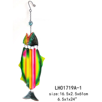 Indoor coastal fish glass wind chimes decoration