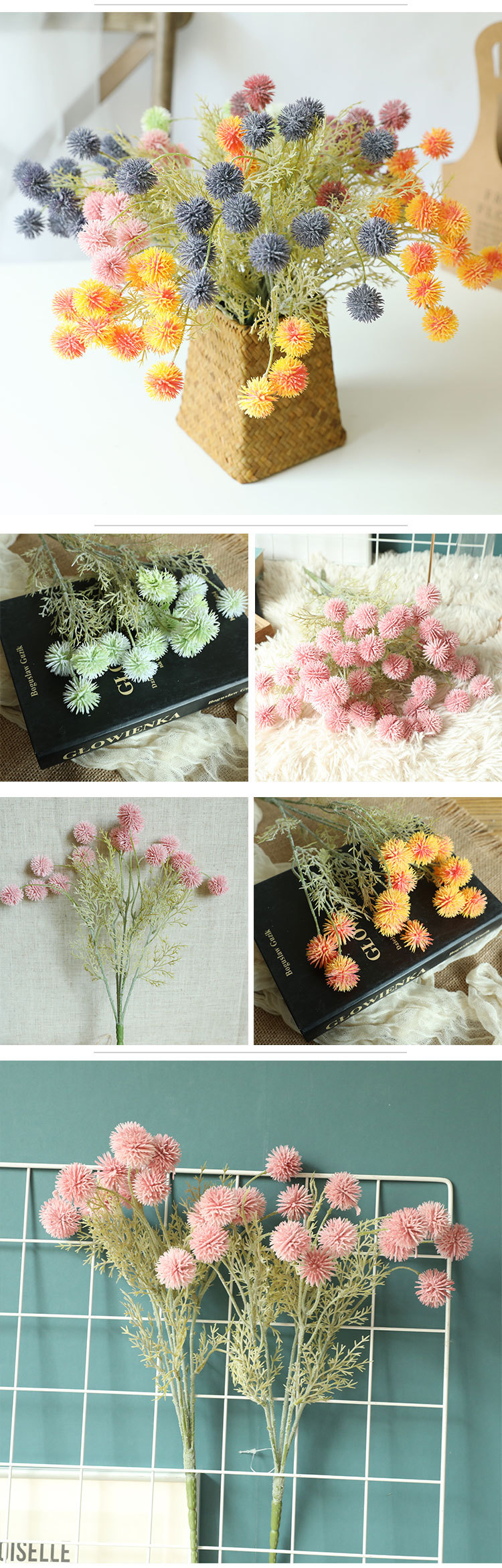New popular centerpieces decoration 15 heads artificial flowers wedding