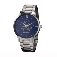 Top quality transparent men moonphase automatic watch multi-function japan movt chronograph watches