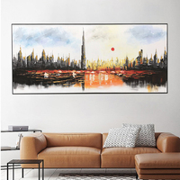 Modern Living Room Colorful Handmade Home Wall Decoration Oil Painting On Canvas