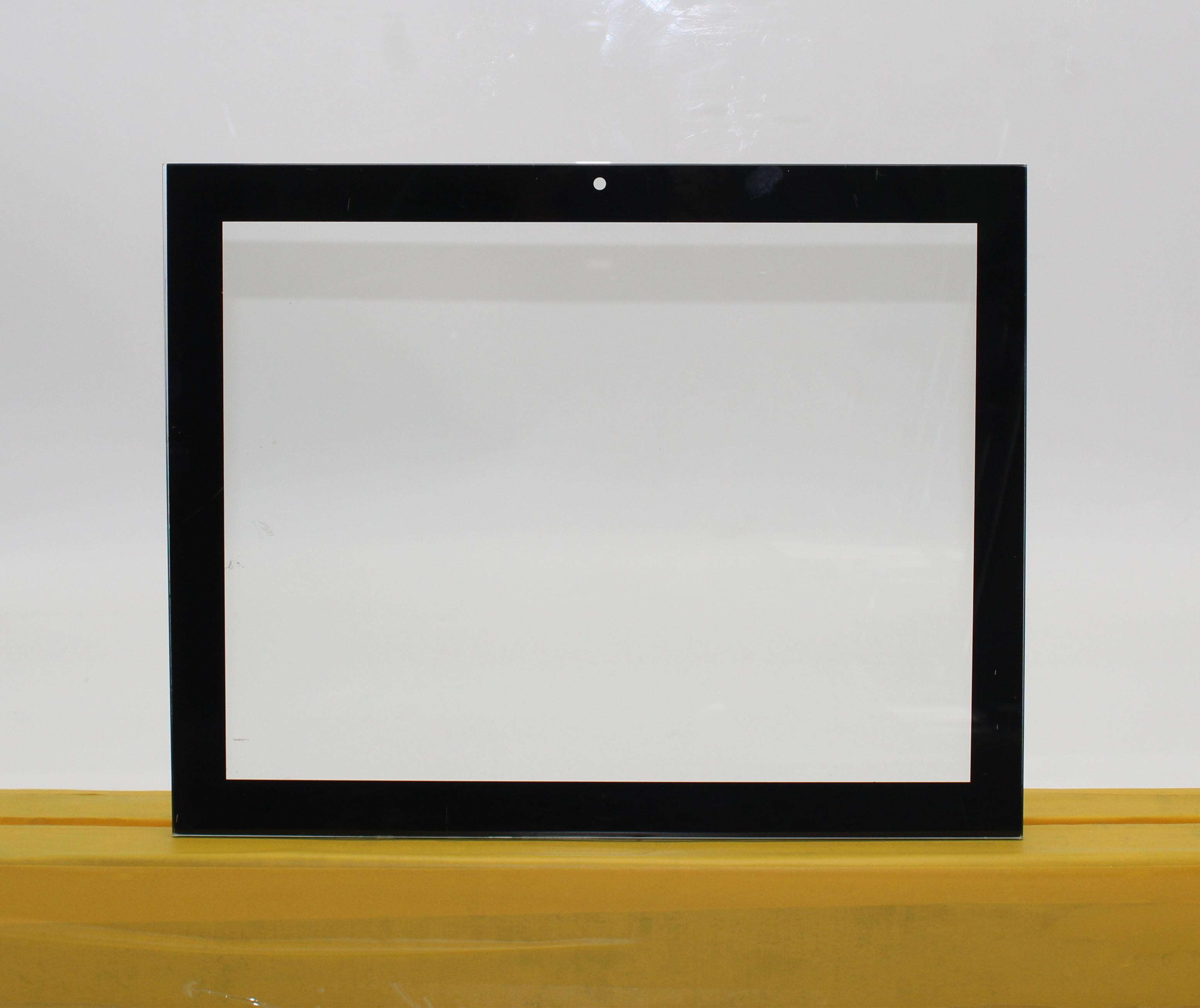 لوح زجاج مُقسّى منحوتة غير منتظمة شفافة مخصصة للزينة
