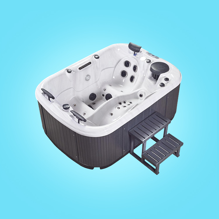 Large swim spa pools JY8805 bestway hot tub 2 seats 1 lounger massage hot tub
