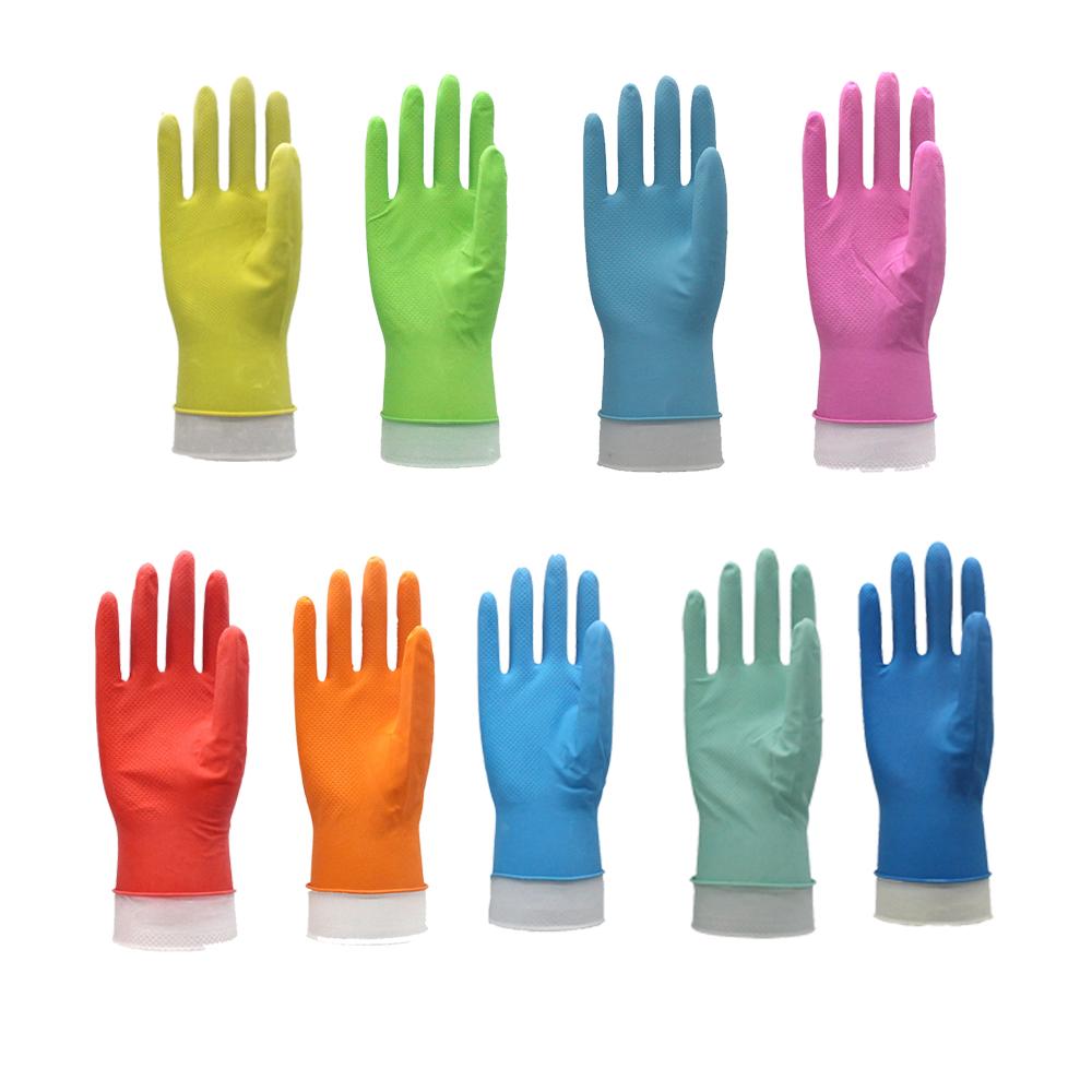 Nouveau Design en latex à manchette longue travail logo personnalisé bonne mains gants