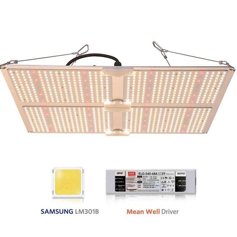 Farmer Stock in USA  ELG+lm301b grow light 480W ir 660nm 750nm qb samsung lm301b  led  fixture Quantum