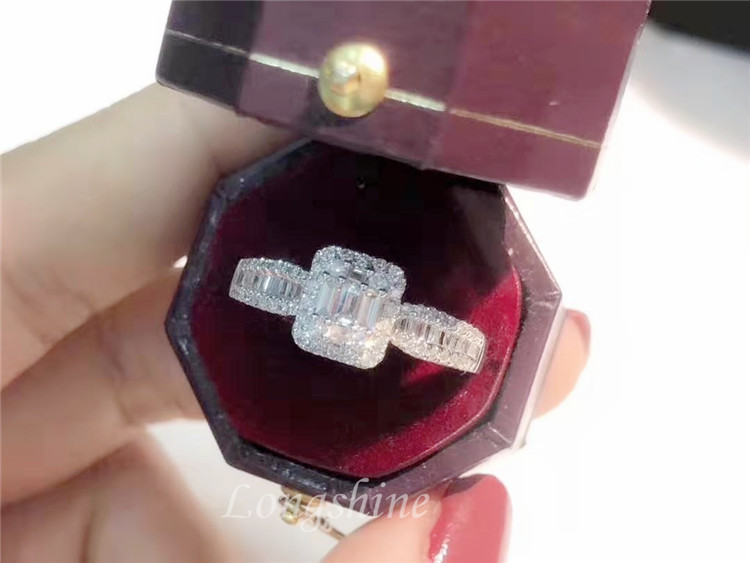 Custom personality womans diamond ring 18k gold wedding rings