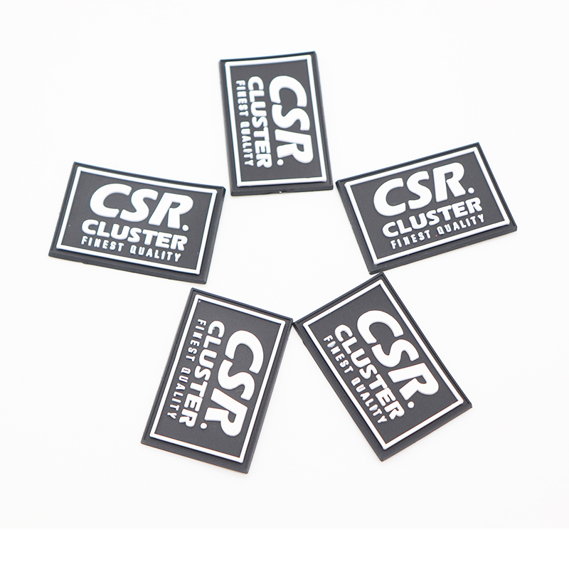 custom logo 3d printer pvc rubber logo label soft rubber clothing label