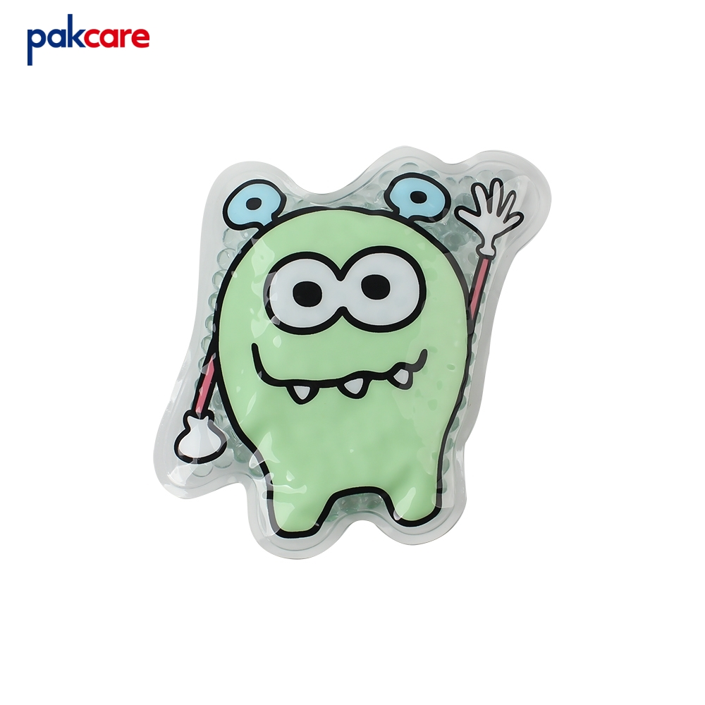 Low price pakcare little monster shaped wholesale ice pack pouch cute hot cold pack