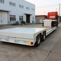 factory 2axle 3 axles flatbed gooseneck chassis skeleton semi 40ft container trailer price