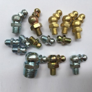 Straight 45 Degree 90 Degree All Types Brass Grease Nipple Fitting