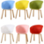 Modern italian design restaurant wood legs shell shape plastic chair made in China Bazhou