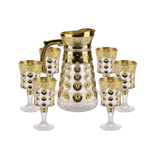 7pcs Oro Placcatura Decorativa <span class=keywords><strong>di</strong></span> <span class=keywords><strong>Vetro</strong></span> Bere <span class=keywords><strong>Set</strong></span> GB12039TX-D
