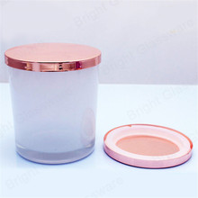 New tumbler <span class=keywords><strong>glas</strong></span> dekorative <span class=keywords><strong>glas</strong></span> <span class=keywords><strong>apotheker</strong></span> container candle jar mit rose gold deckel