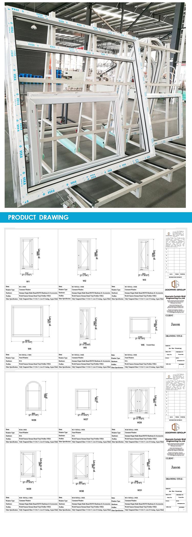 Cheap Factory Price 48 x 60 vinyl window 36 windows 46 53