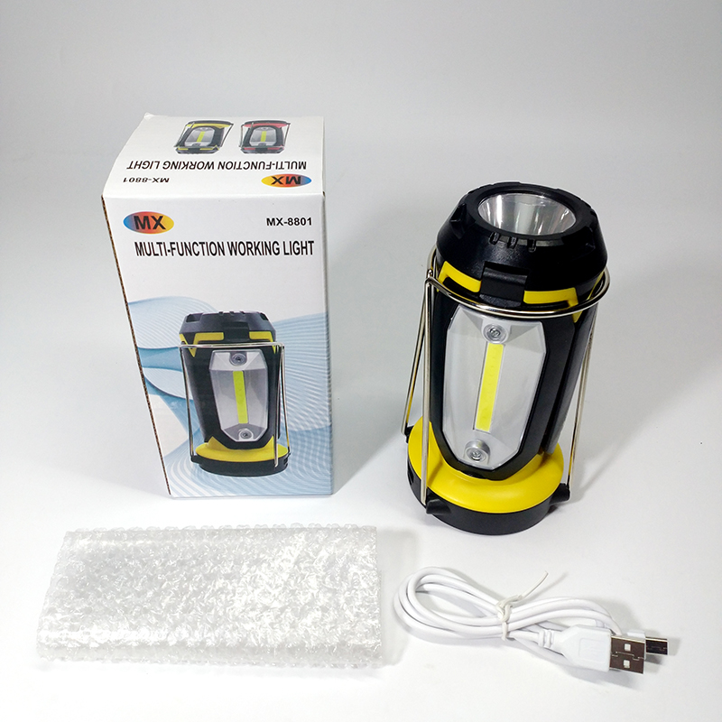 Outdoor LED Flashlight Portable Solar Camping Lantern With Fan