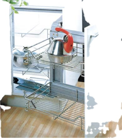 HDHARDWARE Furniture New product Metal kitchenpull-out wire mesh basket 14.01.172