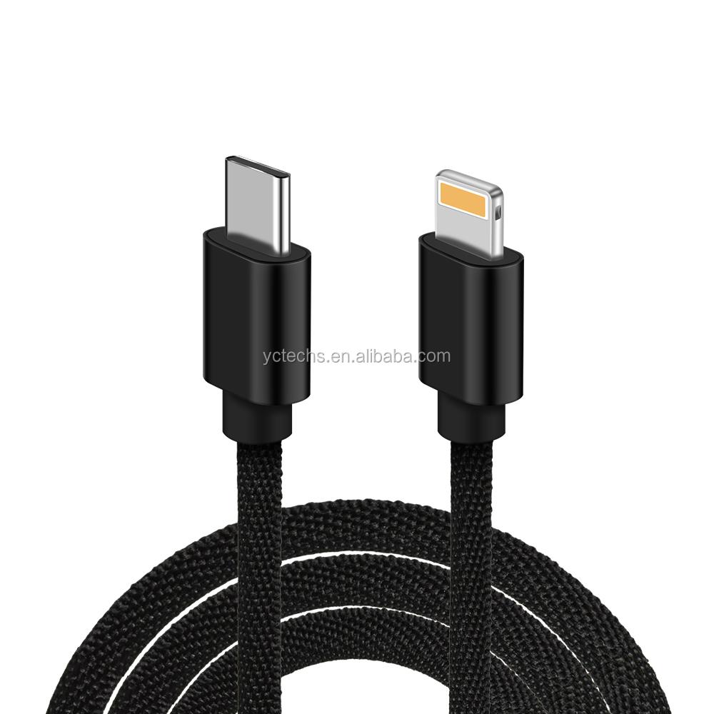 """מכירה לוהטת מהיר טעינה usbc כדי c usbc לברק פ""""ד USB כבל עבור טלפון נייד עבור tablet עבור מחשב"""