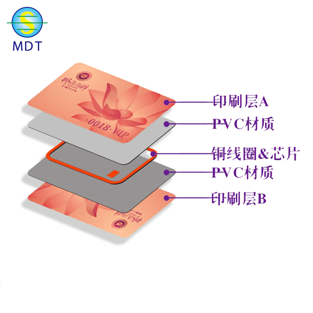 MDT HF rfid label hot sell pvc smart label sticker  iso18000 printable