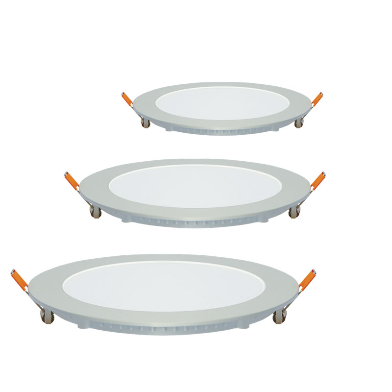 6 inch 9W 700lm LED Recessed Low Profile Slim Round Panel Light with Junction Box