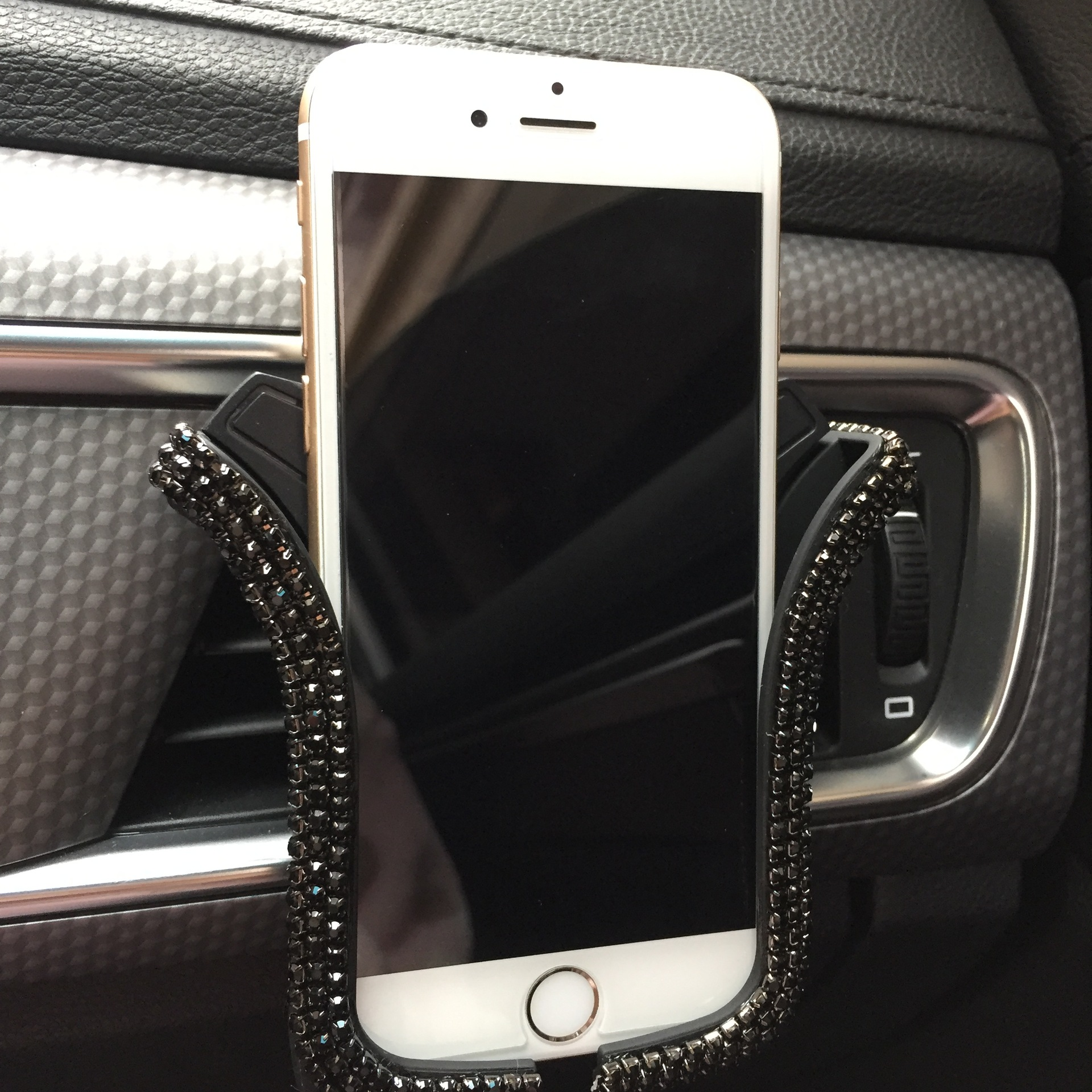 Universal Car Phone Holder with Crystal Rhinestone Car Air Vent Mount Clip Cell Phone Holder Car Holder