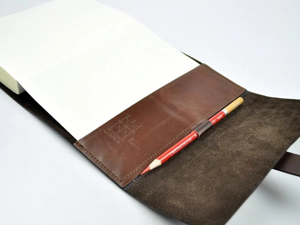 Custom A5 refillable leather journal cover