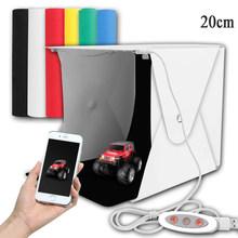 Складной светильник 20 см 30 см 40 см портативный софтбокс для фотостудии LED набор для фона USB мини-светильник для DSLR камеры(China)