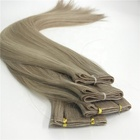 100% Full Cuticle Double Drawn Virgin Flat Weft Remy Hair Extensions