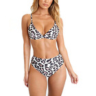 Sexy leopard grain high waist hot hot girl sxe photo bikini swimsuit eco friendly swimwear