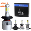 Auto Lighting System 16000LM 3 Sides S2 36W 12V 9004 H3 9005 H8 H9 HB4 880 9012 H11 H1 9007 9006 H7 Car h4 Led Headlights Bulbs