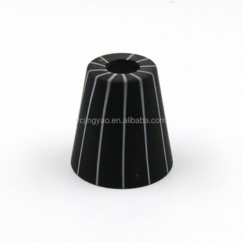 Wholesale custom special black cylindrical glass tube lampshade with white line