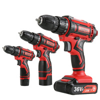 Cordless Screwdriver Power Tools Handheld Drill Lithium Battery Charging Drill with Boxs