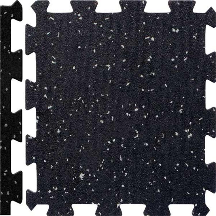 Black Recycled Rubber Floor Tiles Mats
