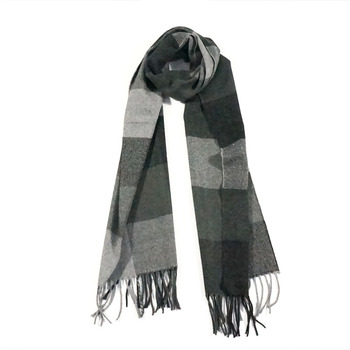 Woven tartan plaid 100% acrylic fashion lady's shawl neck scarf